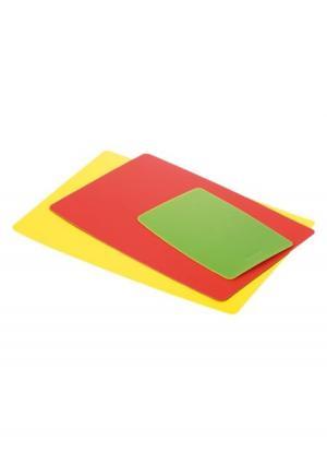 Набор досок разделочных гибких PRESTO (3 шт.) tescoma. Цвет: зеленый (зеленый, желтый, красный)