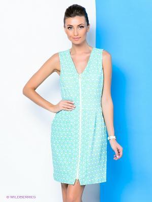 Платье River Woods. Цвет: голубой, белый, зеленый