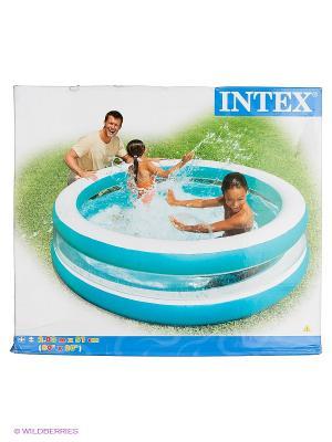Надувной бассейн Intex. Цвет: бирюзовый
