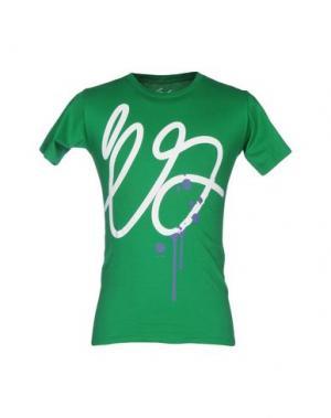 Футболка ÉS. Цвет: зеленый