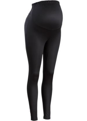 Мода для беременных: термолегинсы (черный) bonprix. Цвет: черный