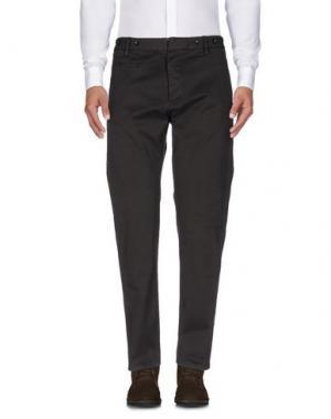 Повседневные брюки MESSAGERIE. Цвет: темно-коричневый