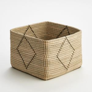Корзина плетеная квадратная Guillermo AM.PM.. Цвет: черный/ экрю