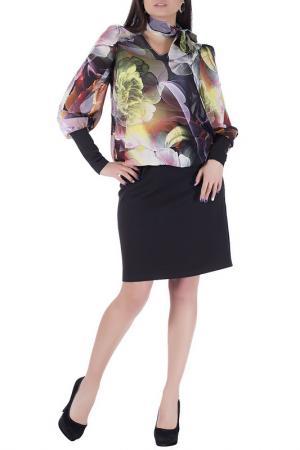 Декоративное платье с длинными рукавами Sonett. Цвет: лилово-малиновый