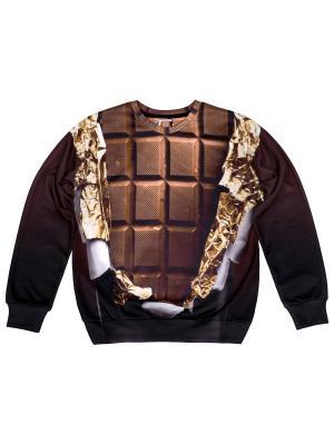 Свитшот Chocolate FUSION. Цвет: черный, белый, коричневый