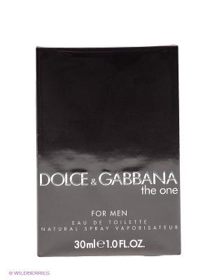 Dolce&Gabbana The One For Men М Товар Туалетная вода 30 мл DOLCE & GABBANA. Цвет: черный