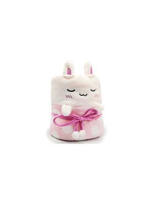 Плед-трансформер Rabbit (розовый с белым) Kawaii Factory. Цвет: розовый, белый