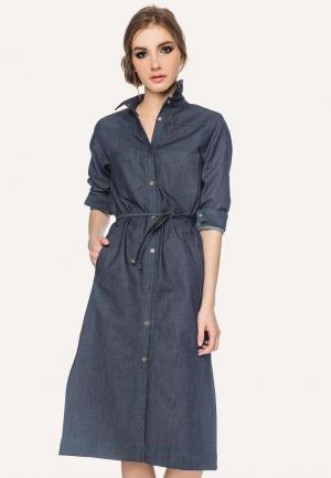 Платье джинсовое Stimage. Цвет: синий