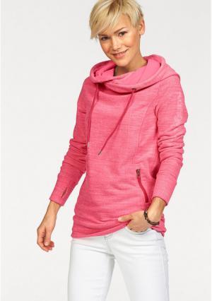 Флисовая толстовка Kangaroos. Цвет: синий, черный/серый, ярко-розовый
