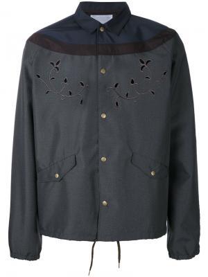 Куртка с вышивкой Kolor. Цвет: серый