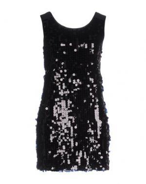 Короткое платье DUCK FARM. Цвет: черный