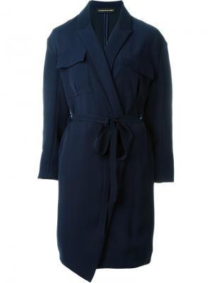 Платье с запахом Alexandre Vauthier. Цвет: синий