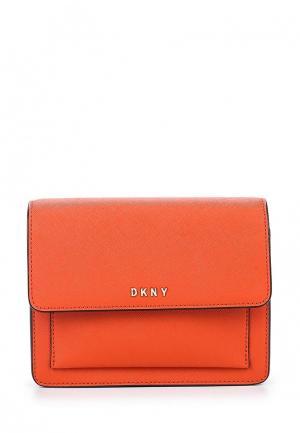 Сумка DKNY. Цвет: оранжевый