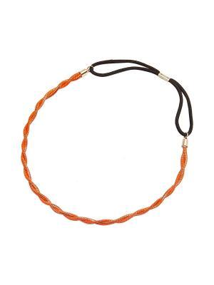 Повязка Kameo-bis. Цвет: оранжевый, золотистый, черный
