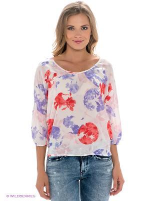 Блузка Dept. Цвет: белый, фиолетовый, красный