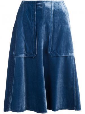 Юбка с накладными карманами Dorothee Schumacher. Цвет: синий