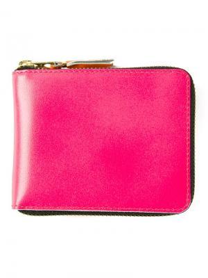 Кошелек New Super Fluo Comme Des Garçons Wallet. Цвет: розовый и фиолетовый