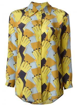 Рубашка с абстрактным принтом  LAutre Chose L'Autre. Цвет: многоцветный