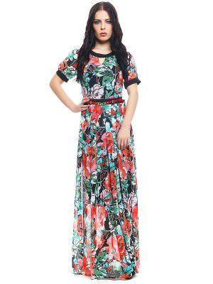Платье TOPSANDTOPS. Цвет: красный, голубой