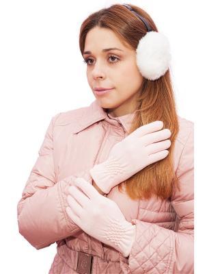 Перчатки розовые Castlelady. Цвет: бледно-розовый, розовый