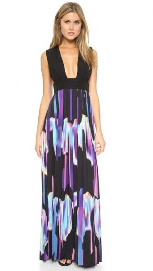 Макси-платье Flame AQ/AQ. Цвет: черный/очаровательный принт