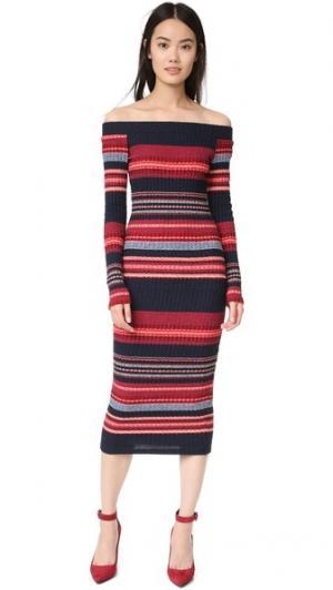 Платье-свитер Laurence Ella Moss. Цвет: алый мульти