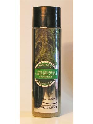 Гель для душа с морской солью.Сила леса.300 гр Крымская Натуральная Коллекция. Цвет: белый