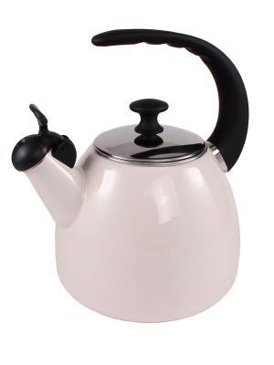 Эмалированный чайник 2,5 л с индукционным дном AMBITION. Цвет: бежевый
