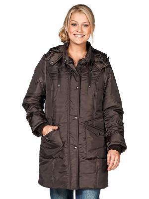 Куртка sheego. Цвет: коричневый