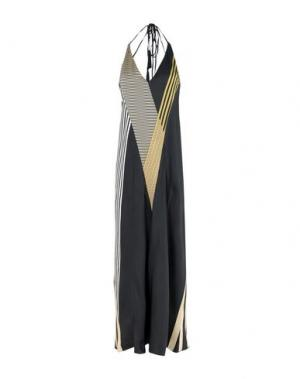 Длинное платье ATTICO. Цвет: стальной серый