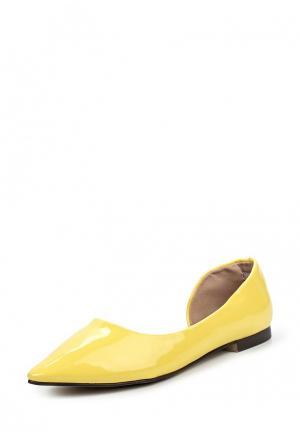 Туфли Sweet Shoes. Цвет: желтый