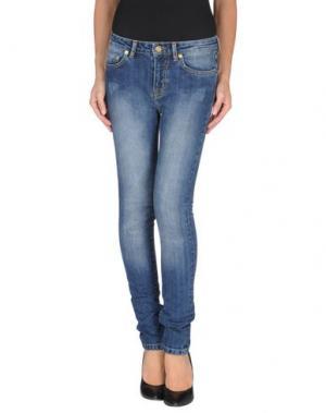 Джинсовые брюки BEAYUKMUI. Цвет: синий