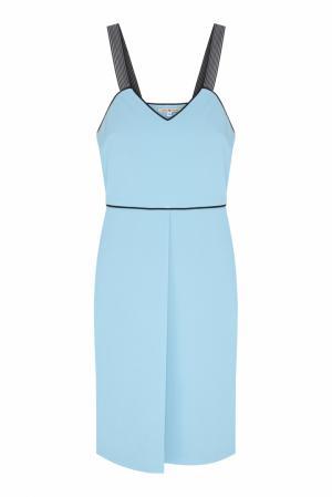 Платье VIKTORIA IRBAIEVA. Цвет: голубой, черный
