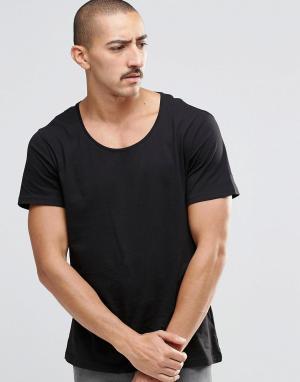 Weekday Черная футболка Daniel. Цвет: черный