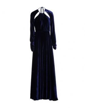 Длинное платье FRANCESCA PICCINI. Цвет: темно-синий
