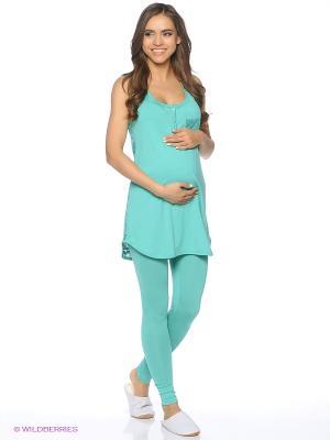 Комплект для беременных и кормящих (майка+леггинсы) FEST. Цвет: бирюзовый