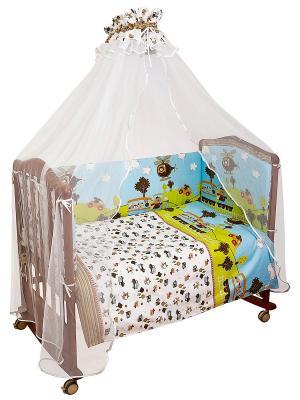 Комплект постельного белья Каникулы Сонный гномик. Цвет: белый, синий, зеленый
