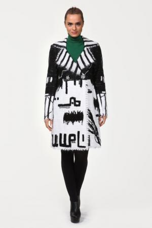 Пальто Yuko-Selena. Цвет: бело-черный