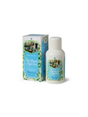 Гель для душа Белые цветы и зеленые листья (унисекс) DERBE. Цвет: голубой