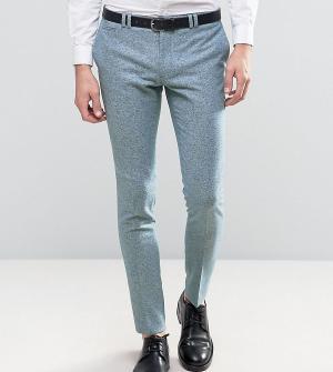 Noak Супероблегающие шерстяные брюки в крапинку. Цвет: синий