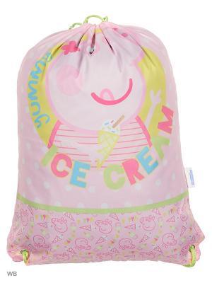 Мешок для обуви Сладкоежка ТМ Свинка Пеппа Peppa Pig. Цвет: розовый, салатовый