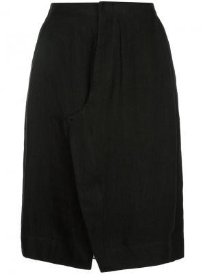 Строгая юбка со складками Bassike. Цвет: чёрный