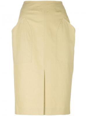 Юбка с накладными карманами Stanton Isabel Marant. Цвет: телесный