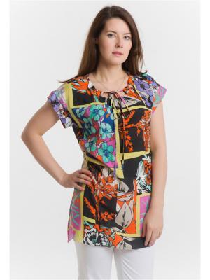 Блузка ESSA. Цвет: оранжевый