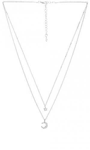 Многорядное ожерелье ethereal light Child of Wild. Цвет: серебряный