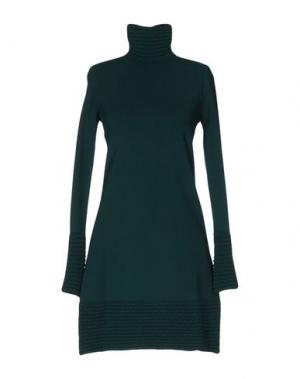 Короткое платье VICEDOMINI. Цвет: изумрудно-зеленый