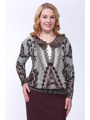 Блузка LISSA. Цвет: черный, бежевый, белый, коричневый