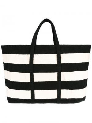 Striped tote Zilla. Цвет: чёрный