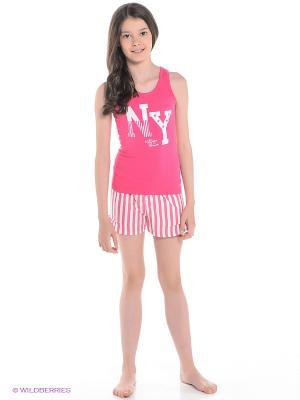 Пижама Tommy Hilfiger. Цвет: розовый