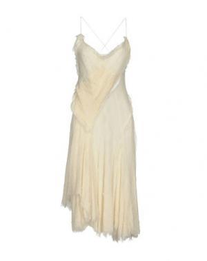Платье длиной 3/4 DONNA KARAN. Цвет: белый